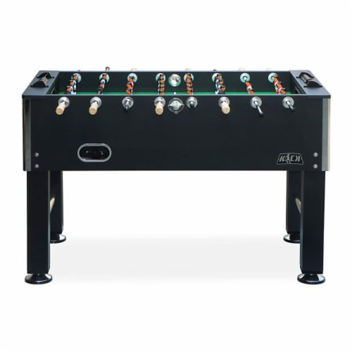 KICK Triumph 55 Inch Recreational Multi Person Soccer Game Foosball Table, Black Perspective: top