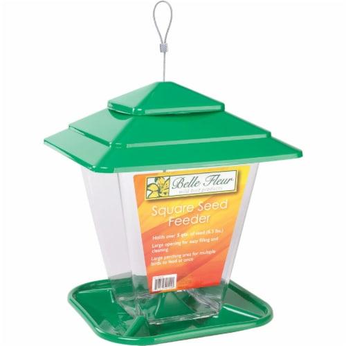 Stokes Select Belle Fleur Plastic Square Hopper Bird Feeder, 6.3 Lb. 50120 Perspective: top