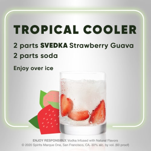 Svedka Pure Infusions Strawberry Guava Flavored Vodka Perspective: top