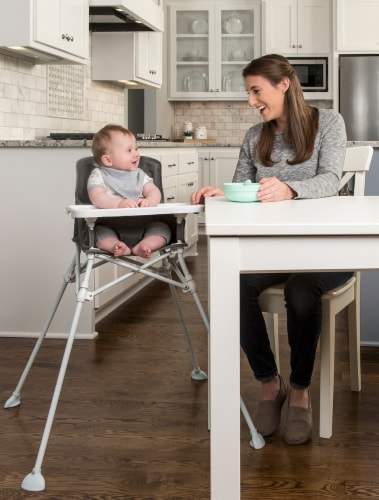 Regalo Portable High Chair - White/Gray Perspective: top