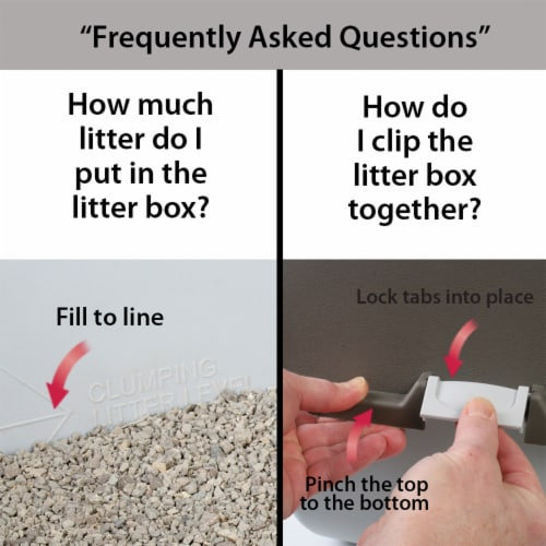 Omega Paw EL-RA20-1 Roll N Clean Self Separating Self Cleaning Litter Box, Large Perspective: top