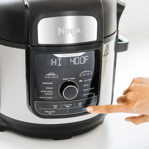 Ninja® Foodi 9 in 1 Deluxe XL Pressure Cooker & Air Fryer Perspective: top