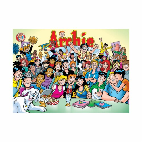 Cobble Hill Puzzle Company Archie Comics The Gang at Pops Puzzle Perspective: top