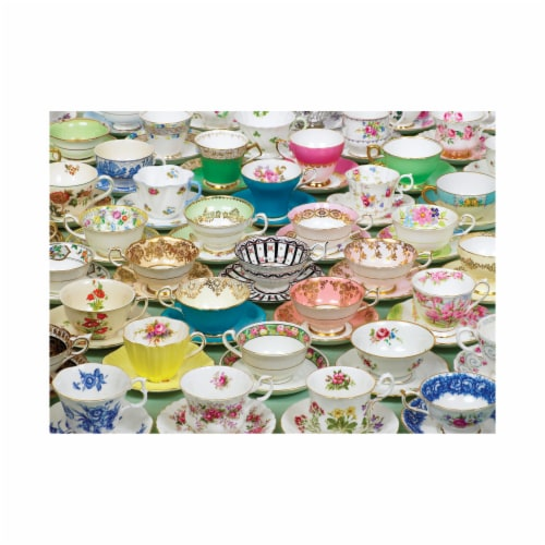 Cobble Hill Teacups Puzzle Perspective: top