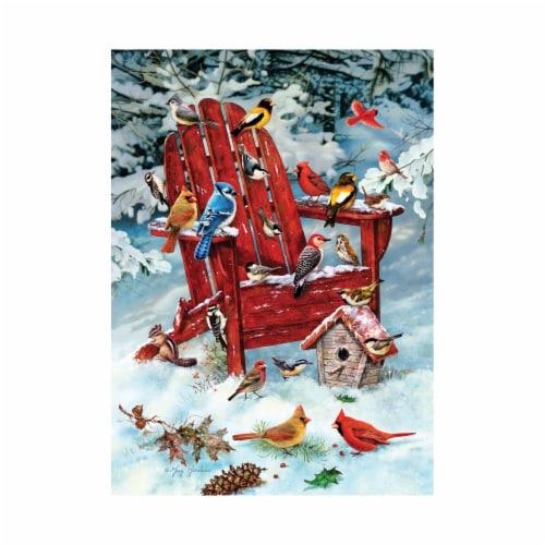 Cobble Hill Adirondack Birds Puzzle Perspective: top