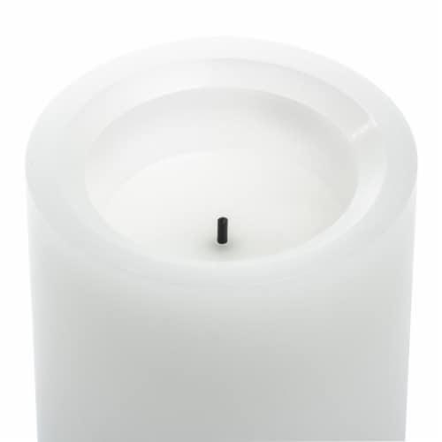 Inglow Vanilla Pillar Candle - White Perspective: top