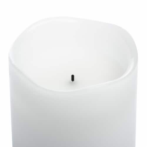 Sterno Home Essentials LED Wax Candle - White Perspective: top