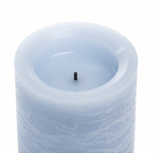 Sterno Home Frosted Pillar LED Candle - Blue Perspective: top