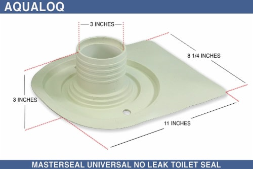 Aqualoq Masterseal Gasket Universal Toilet Seal for Secure Watertight Protection Perspective: top