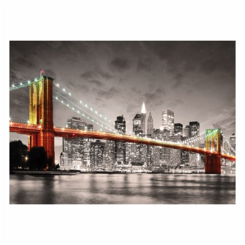 Eurographics Inc City Collection New York City Brooklyn Bridge Puzzle Perspective: top