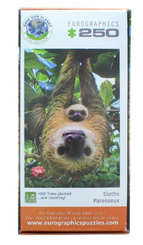 Sloths 250 Piece Jigsaw Puzzle Perspective: top