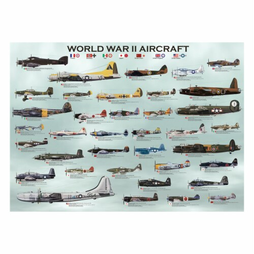 Eurographics Inc WWII Aircraft Puzzle Perspective: top