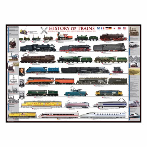 Eurographics Inc History of Trains Puzzle Perspective: top