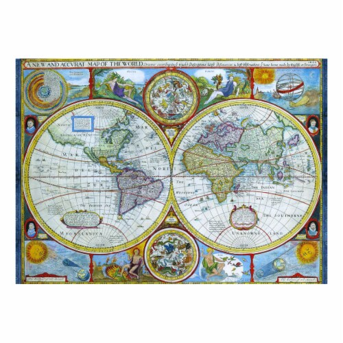 Eurographics Inc Antique World Map Puzzle Perspective: top