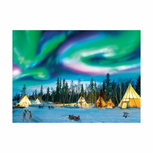 Eurographics Inc Northern Lights Yellowknife Puzzle Perspective: top