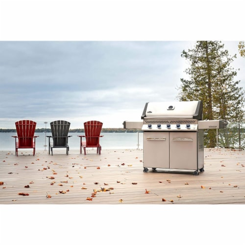 Napoleon P665NSS Prestige 665 Stainless Steel Natural Gas Grill w/ Side Shelves Perspective: top