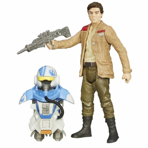 Star Wars The Force Awakens 3.75-Inch Figure Space Mission Armor Poe Dameron (Pilot) Perspective: top