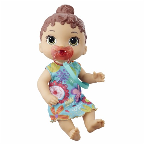 Hasbro Baby Alive Baby Lil Sounds: Interactive Brown Hair Baby Doll Perspective: top