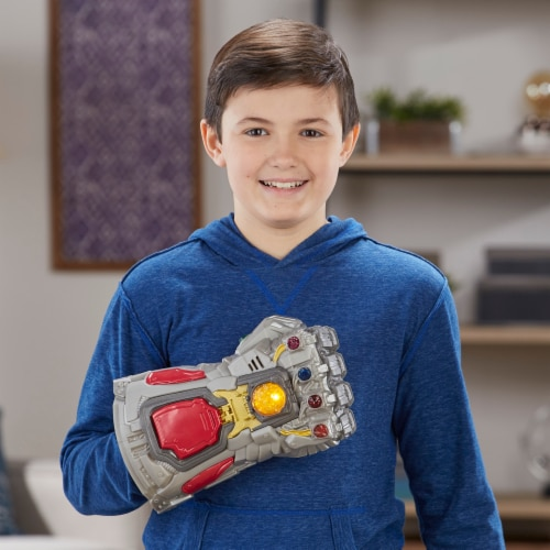 Avengers Marvel Endgame Electronic Fist Roleplay Toy w/ Lights & Sounds for Kids Perspective: top