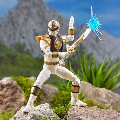 Power Rangers Lightning Collection 6 Inch Action Figure | White Ranger Perspective: top