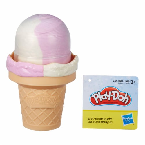 Play-Doh Ice Cream Cone and Ice Pop Shaped Compound Container - Assorted Perspective: top