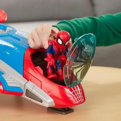 Hasbro Playskool Marvel Super Hero Adventures Spider-Man Jetquarters Toy Perspective: top
