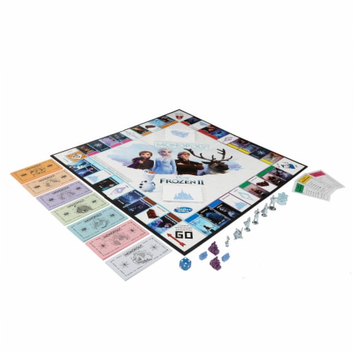 Hasbro Frozen 2 Monopoly Board Game Perspective: top