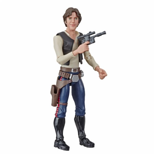 Hasbro Star Wars Galaxy of Adventures Han Solo Action Figure Perspective: top