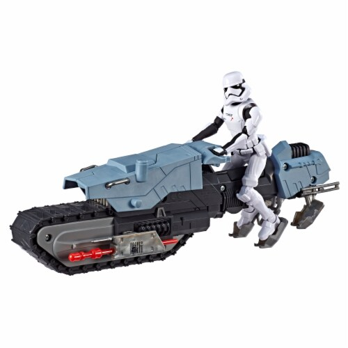 Hasbro Star Wars Galaxy of Adventures First Order Driver and Treadspeeder Toy Perspective: top