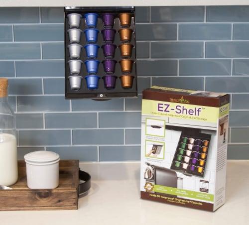 EZ-Shelf Coffee Pod Holder Under Cabinet Drawer Storage Organizer (for Nespresso Original Lin Perspective: top