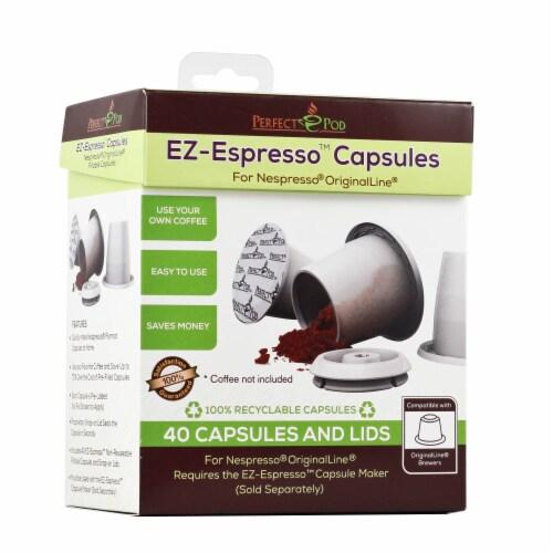 Perfect Pod 4-Pack EZ-Espresso Refill Pack   Compatible with Nespresso Original Line Capsule Perspective: top