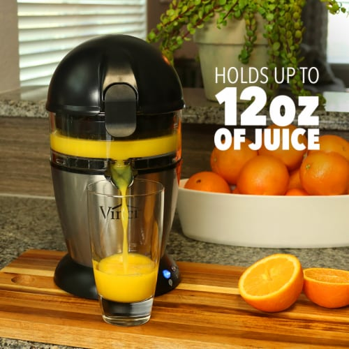 Vinci Hands-Free Electric Citrus Juicer, Stainless Steel, 1-Button Easy Press Perspective: top