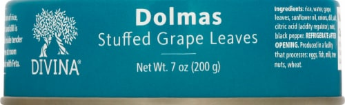 Divina Dolmas Stuffed Grapes Leaves Perspective: top