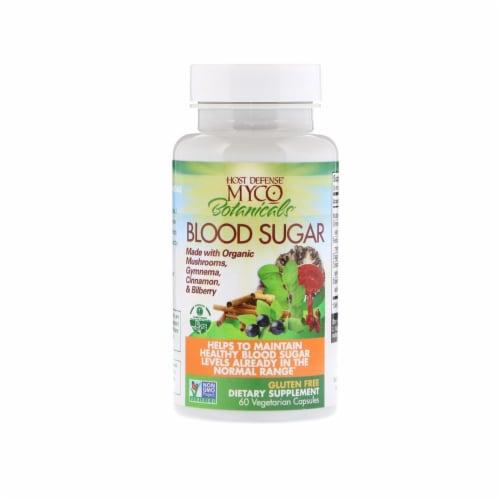 Fungi Perfecti Host Defense MycoBotanicals Blood Sugar, 60 Vegetarian Capsules Perspective: top