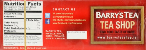 Barry's Gold Blend Tea Perspective: top