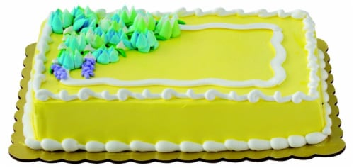 Flower Bouquet Wave White Cake with Whipped Icing Perspective: top