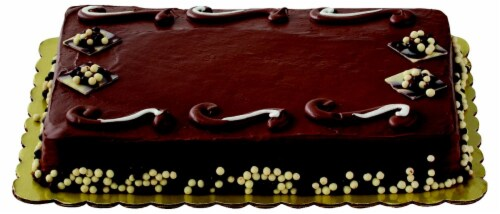 Swirl Chocolate Cake with Buttercream Icing Perspective: top