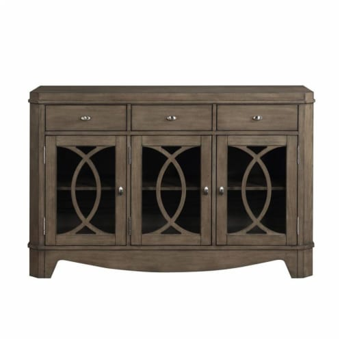 Bordeaux Toffee Brown 3-drawer Server Perspective: top