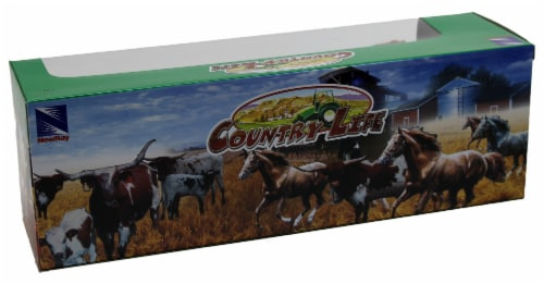 Country Life Farm Animal Set, Five Horses Without Saddles (05593D) Perspective: top