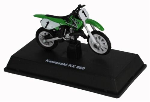 Die-Cast Green Kawasaki KK 250 Dirt Bike, 1:32 Scale Perspective: top