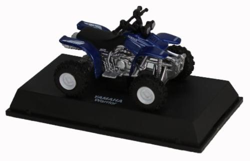 Die-Cast Blue Yamaha Warrior Four Wheeler, 1:32 Scale Perspective: top