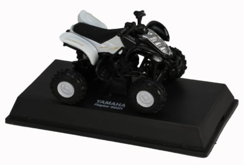 Die-Cast Black Yamaha Raptor 660R Four Wheeler, 1:32 Scale Perspective: top