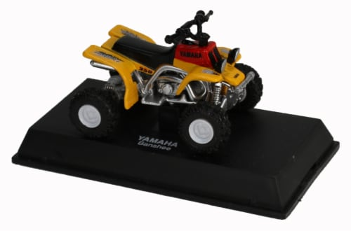 Die-Cast Yellow Yamaha Banshee Four Wheeler, 1:32 Scale Perspective: top