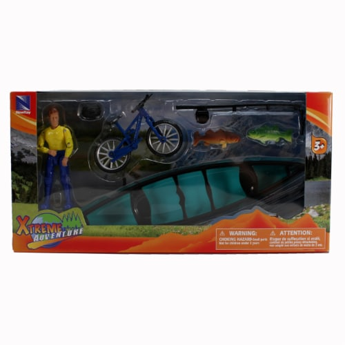 Xtreme Fishing, Biking, and Canoeing Adventure Playset Perspective: top
