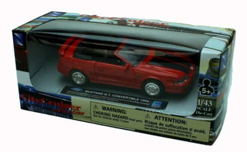 1:43 Scale Die-Cast Red 1994 Mustang G.T. Convertible Perspective: top