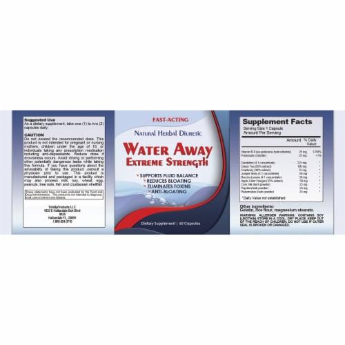Water Away Natural Diuretic Water Pill (60 Capsules) Perspective: top