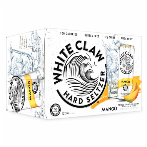 White Claw Mango Spiked Seltzer Water Perspective: top