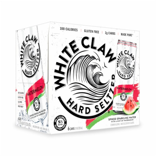 White Claw Watermelon Hard Seltzer Perspective: top
