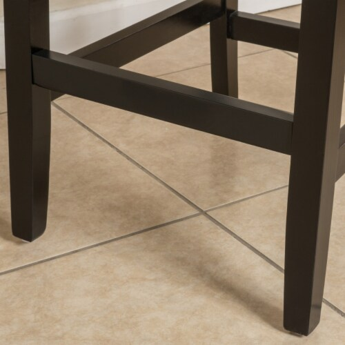 Seigel 19-Inch Brown Bonded Leather Counter Stool (Set of 2) Perspective: top