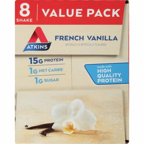 Atkins® French Vanilla Protein Shake Value Pack Perspective: top